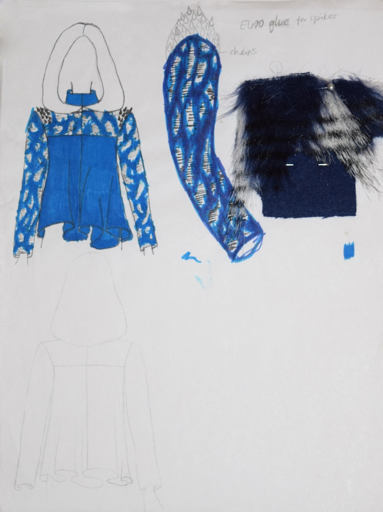 Final Sketch and Faux Fur